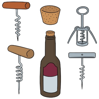 Set of wine opener