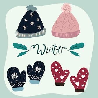 Set of winter fashion
