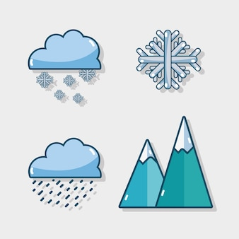 Set winter natural weather season
