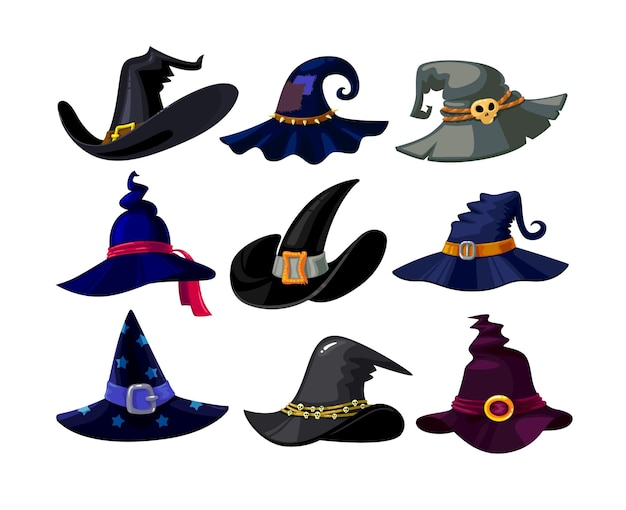 Set of witch hats