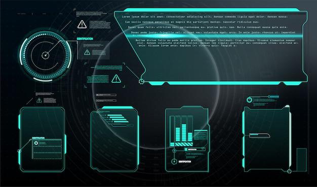 Набор с выносками связи. абстрактный дизайн макета панели управления.