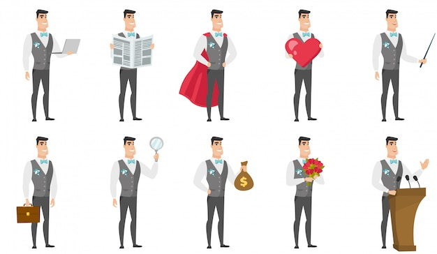 Set of with groom character