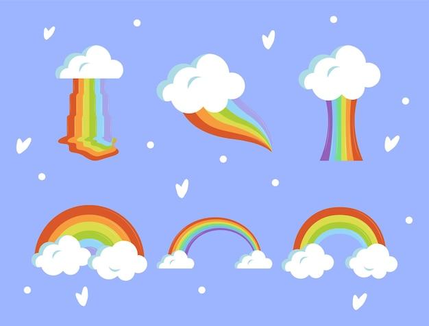 Set with rainbows