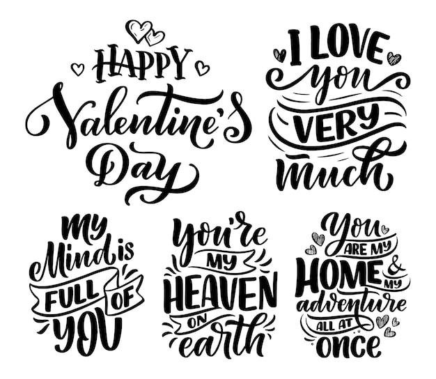 아름다운 스타일의 사랑에 대한 슬로건으로 설정하십시오.