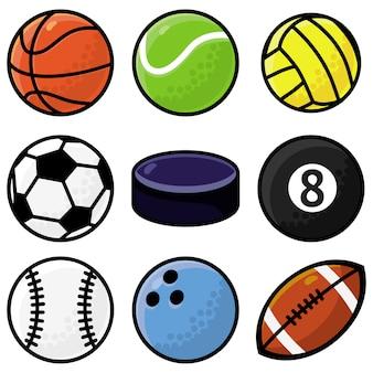 Set with sport balls