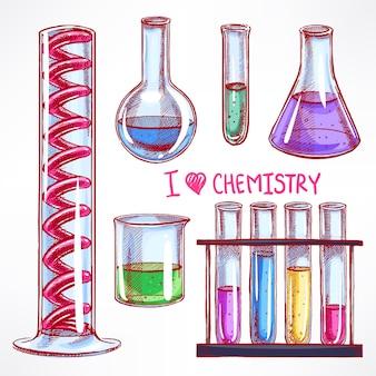 Набор с химическими колбами