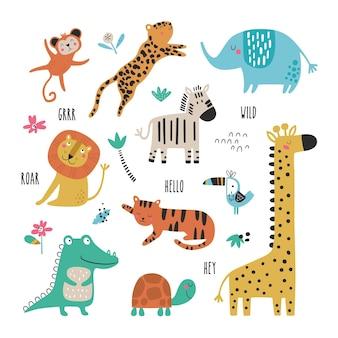 Набор с тропическими животными творческой детской