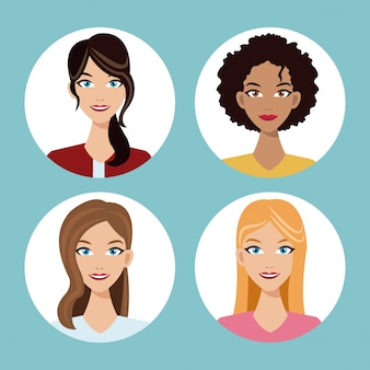 女性の友達のコミュニティを設定する