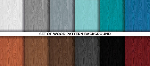Set of wood pattern background