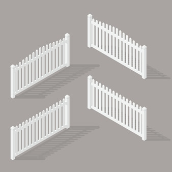 Set of wooden fence