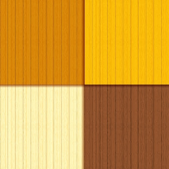 Set of wooden planks with seamless patterns