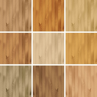 Set of wooden seamless textures patterns backgrounds