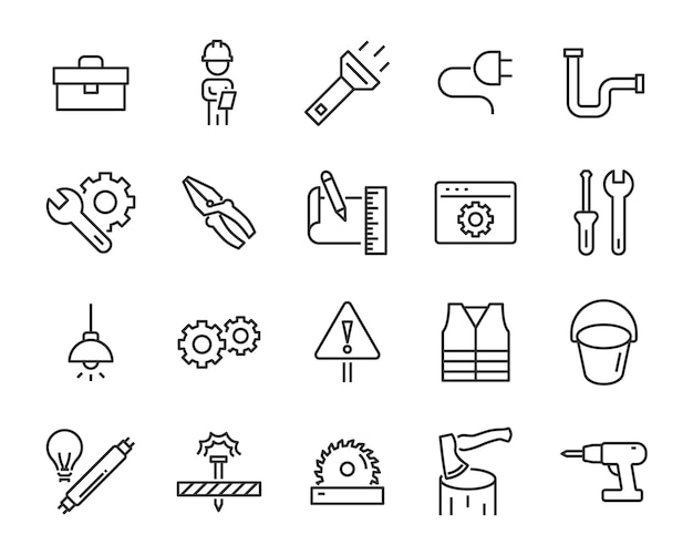 Set of work icons