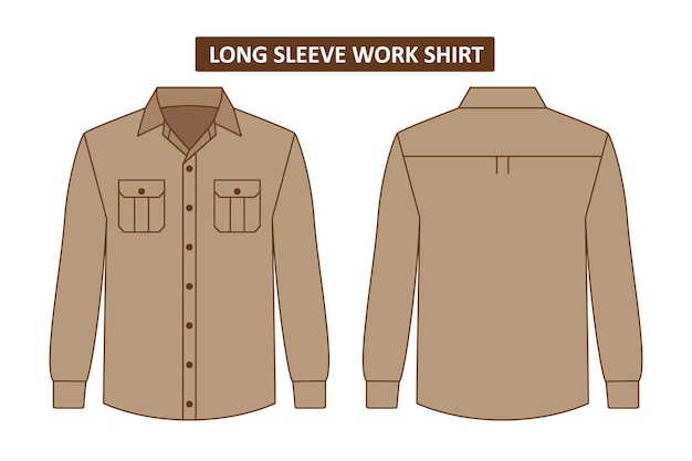 Set of work shirt with pocket