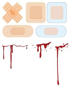 A set of wound and bandage