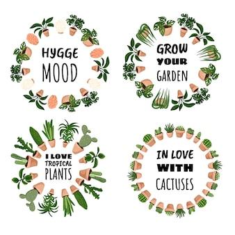 Set of wreath ornament hygge