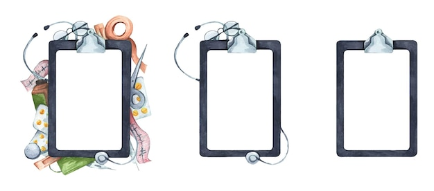Set of writing pad paper clip board.