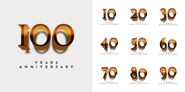 Set years anniversarry template design