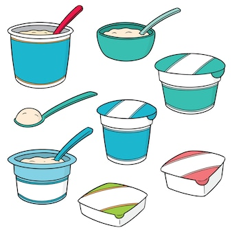Set of yogurt
