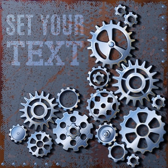 Set your gears background Free Vector