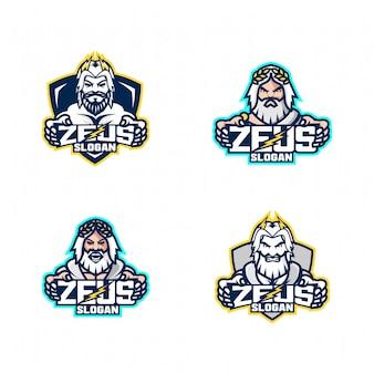 Set of zeus god logo