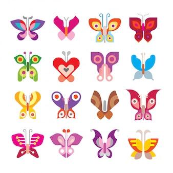 Бабочка икона set