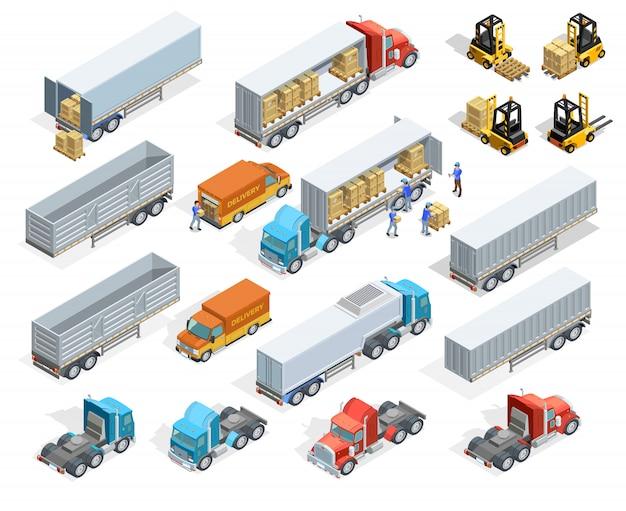 Транспорт изометрические элементы set