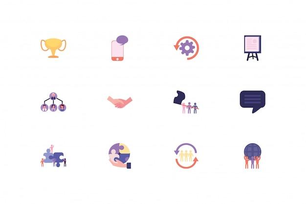 Изолированный бизнес икона set