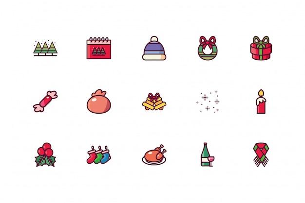 Счастливого рождества икона set