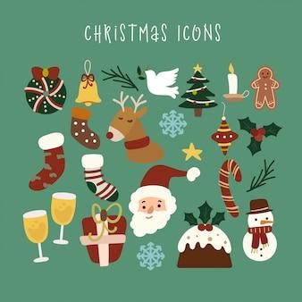 Рождественские элементы set