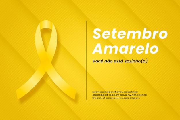 Концепция setembro amarelo