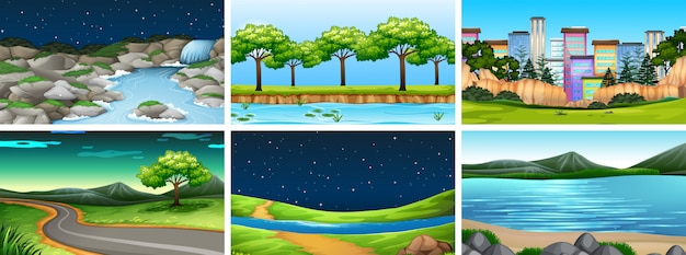 Sets of different backgrounds