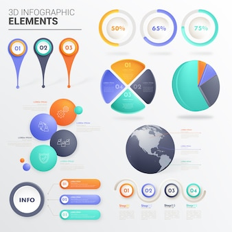 Sets of infographic elements