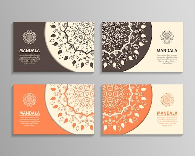 Sets of mandala business cards