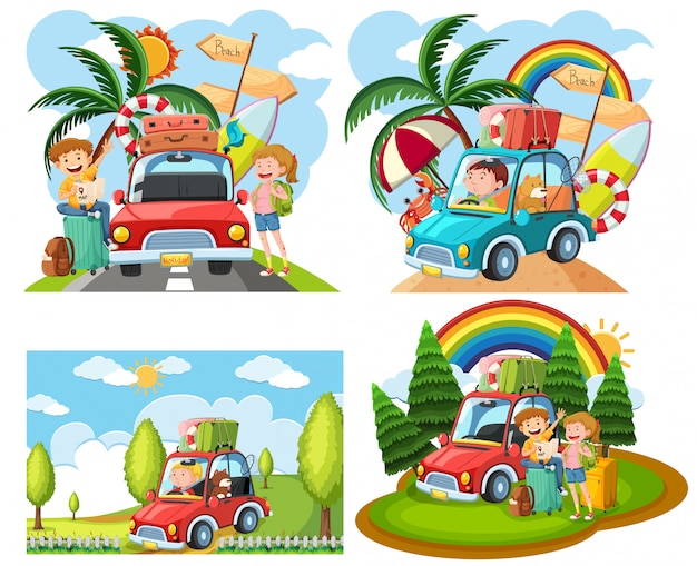 Sets of roadtrip scenes
