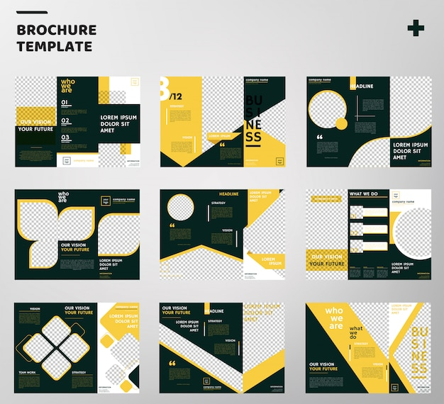 Sets of trifold brochure template