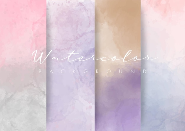 Sets of watercolor soft abstract background