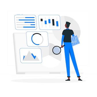 Setup analytics concept illustration