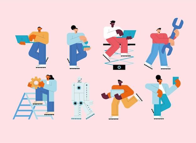 7人の人工知能ユーザーのキャラクター