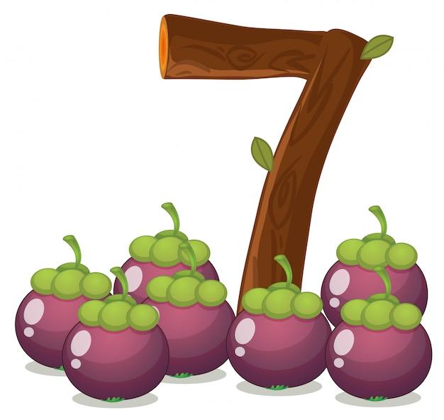 Sette melanzane Vettore gratuito