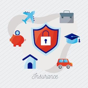 Семь иконок страховых услуг