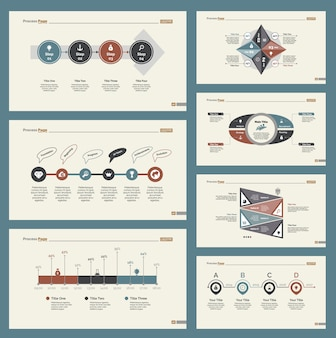 7つの計画スライドテンプレートセット