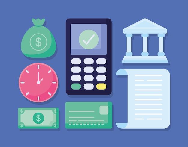Seven transaction items