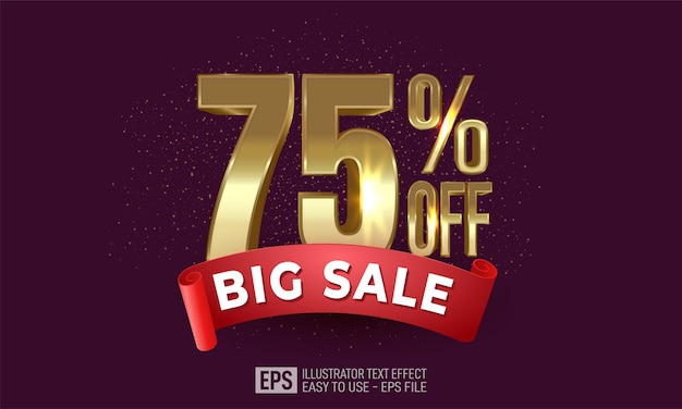 Seventy percent off gold with sale ribbon