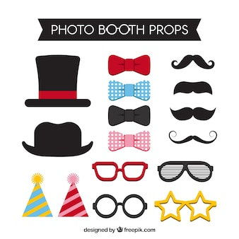 Several accessories for photo booth