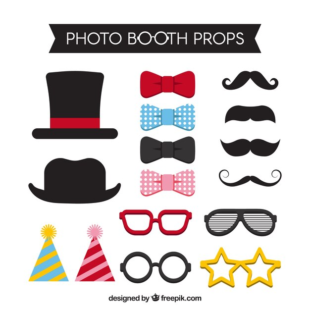 graphic regarding Free Printable Photo Booth Props Words referred to as Picture Booth Props Vectors, Illustrations or photos and PSD data files No cost Obtain