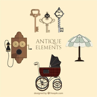 Several ancient cute elements