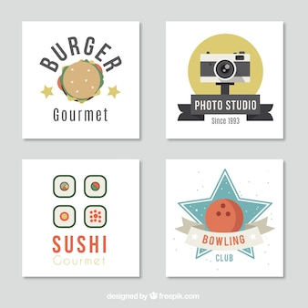 Several cards with different subjects