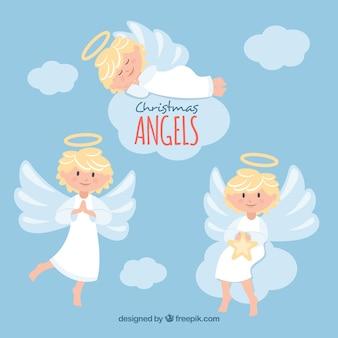 Diversi angeli di natale