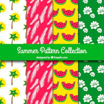 Several colored summer patterns